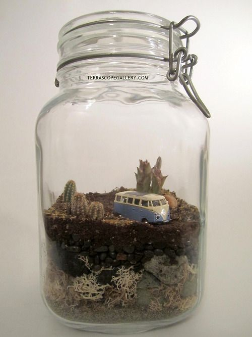 "Terrarium - BBC Boracay says: "" Small world. Could be a great gift for the VW Van fan..."""