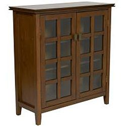 Elegant Window Pane Media Cabinet