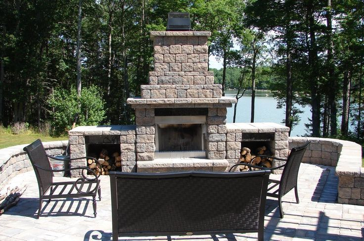 Complete your outdoor living space with an easy-to-assemble fireplace kit from Cambridge ...
