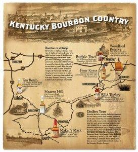 map of kentucky bourbon trail   Bourbon Trail