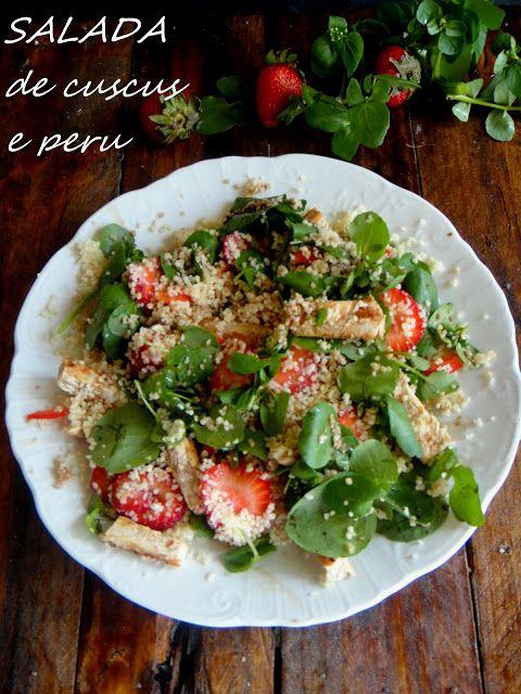 salada de cuscus e peru