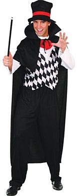 Magician Costume- One Size Halloween Costume http://www.partypacks.co.uk/magician-costume-one-size-pid89226.html