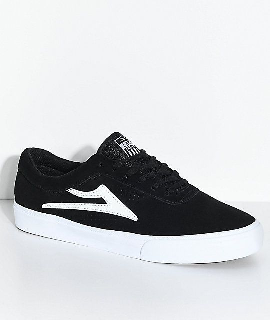 cdee1ab859 Lakai Sheffield Black   White Suede Skate Shoes Zapatillas Originales