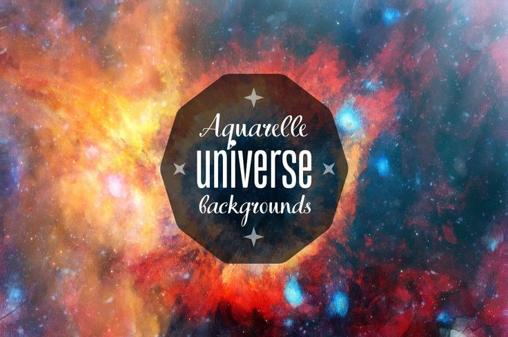 Aquarelle Space HD Backgrounds by retrosup on Etsy