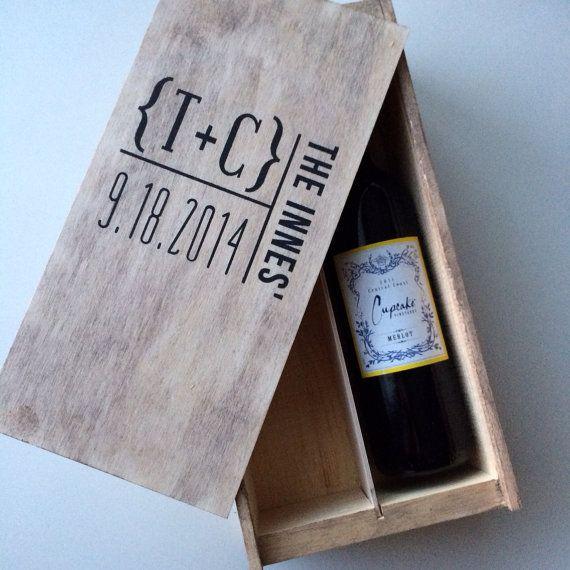 Wedding wine box first fight box wedding wine by FreestyleMom