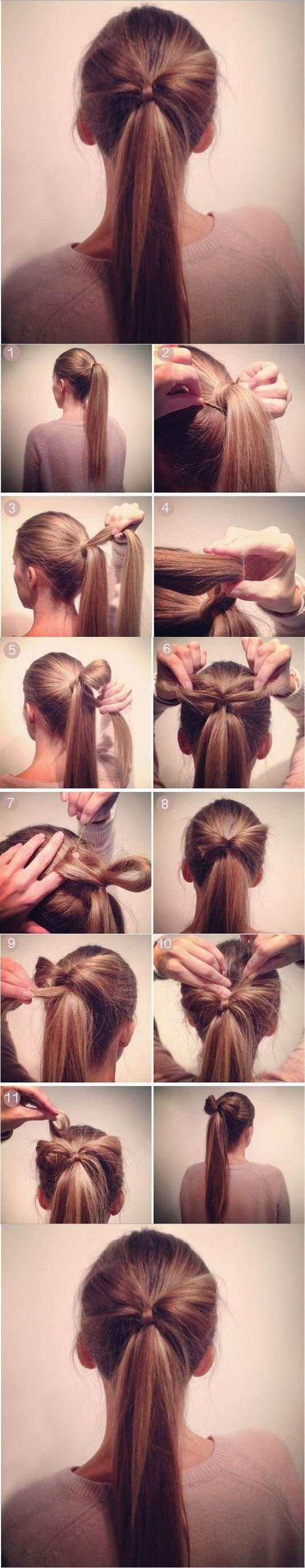 DIY Bow Ponytail Hairstyle | iCreativeIdeas.com Like Us on Facebook ==> https://www.facebook.com/icreativeideas