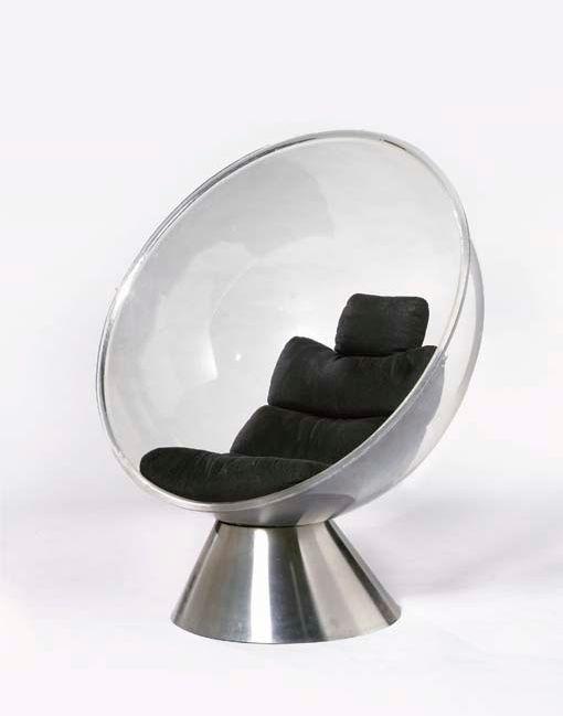 Christian Daninos; Prototype 'Bulle' Chair, 1968.