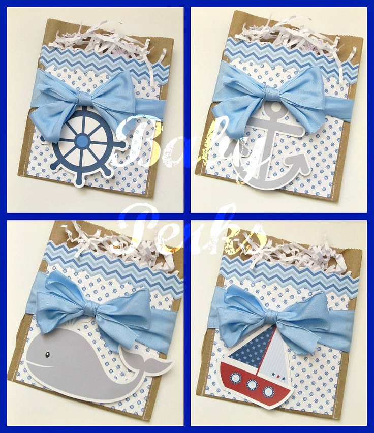 12Nautical Party Favors  Nautical Baby Shower  Nautical by MsPerks, $18.00