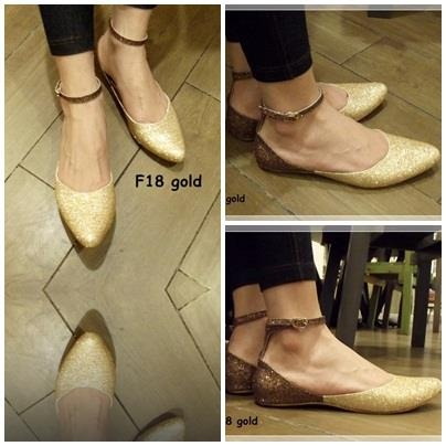 Flat Shoes -- sparkling gold only IDR 175.000