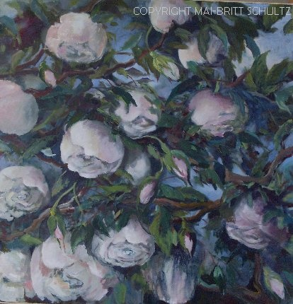 Painted in 2012 - 100 x 100 cm by Mai-Britt Schultz