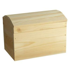 Pine Storage Box With Hinged Lid