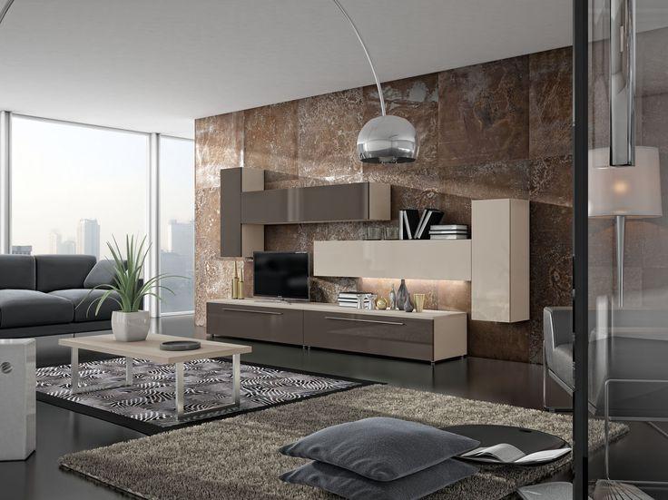 1100 best images about tv wall on pinterest modern wall - Ideas de salones modernos ...