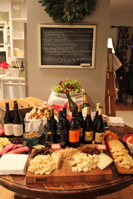 Wine and Cheese Christmas Party - OH how I adore this idea!