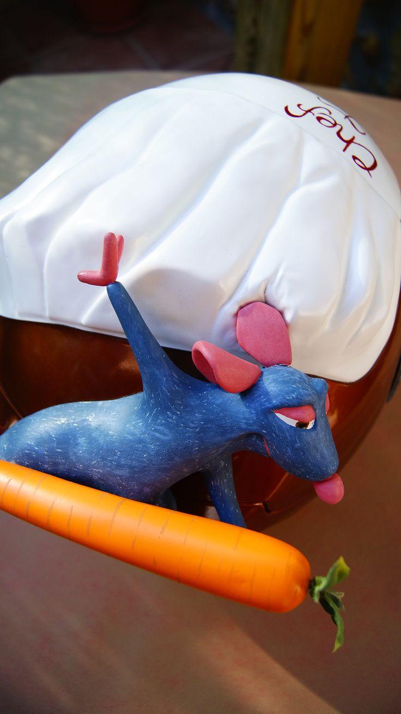 casco personalizado customizado chef ratatouille / customized personalized helmet ratatouille chef