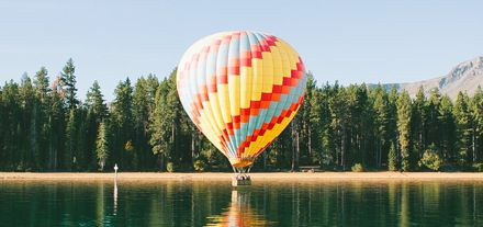 Air Balloon On Water Twitter Cover Photo