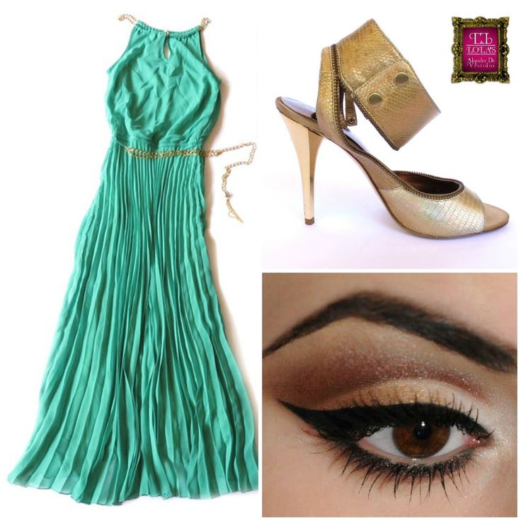 ¿Te gusta esta combinación? Utiliza este look para una ocasión en la que debas verte formal y sofisticada. Aprovecha el color para verte más joven y natural. El estilo del vestido estiliza tu silueta. #LolasAlquilerdeVestidos