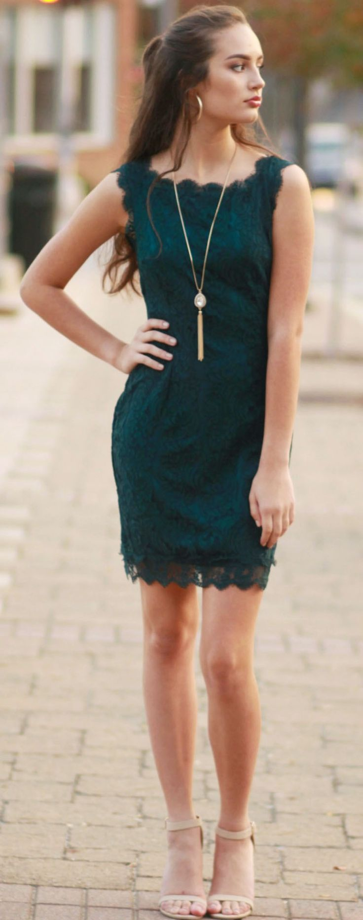 All Lace & Love Teal Dress  from Cousin Couture.