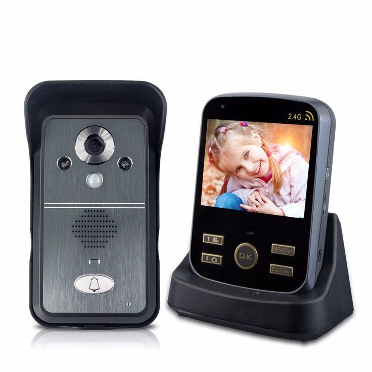 3.5 inch Tahan Air Pintu Interkom Video Nirkabel Monitor Kamera Bel Video Pintu Telepon Interkom untuk Apartemen Rumah F1719A
