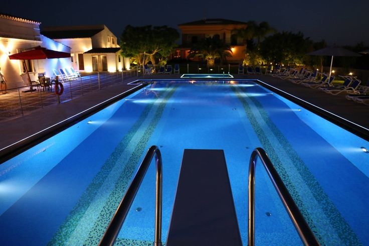 Beautiful view of our swimming pool. #night #love #pools #hotel #trip #italy #travel