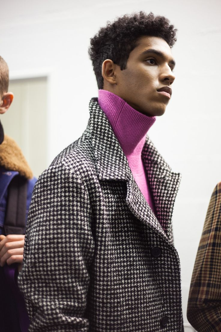 Backstage at AMI's AW17 show in Paris.