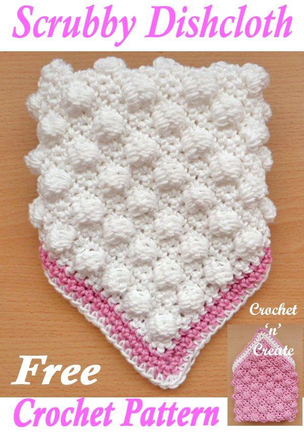 Scrubby Dishcloth Free Crochet Pattern | crocheting | Pinterest ...