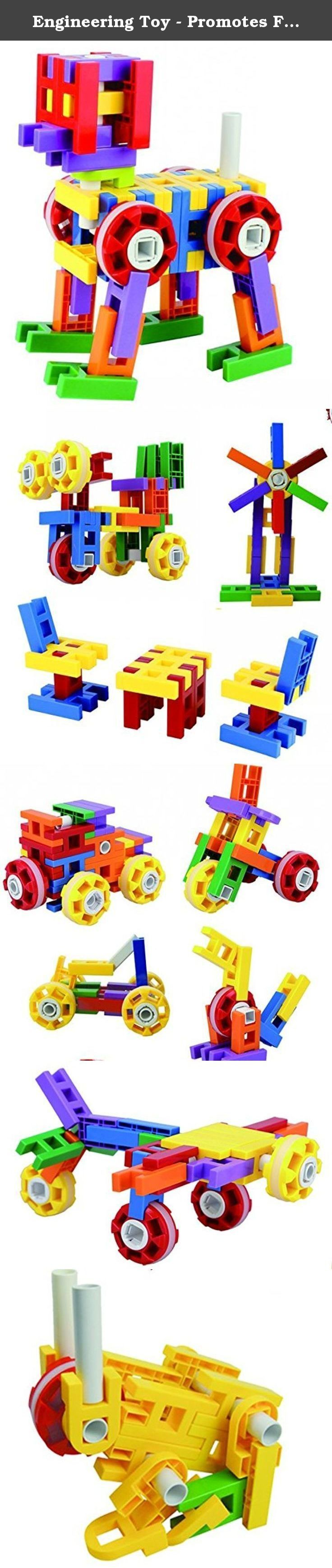 Engineering Toy - Promotes Fine Motor Skills Development - Great Imagination Toy - Boys and Girls-Senior Engineer Blocks. Inspire imagination and creativity with a fun engineering tool built for toddlers! Children love being inspired to think outside the box, using creativity and imagination to solve problems or create solutions.