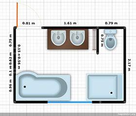 1000 id es sur le th me plan salle de bain sur pinterest - Plan salle de bain 3m2 ...