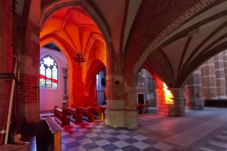 Basilica in Nysa interiors, Poland