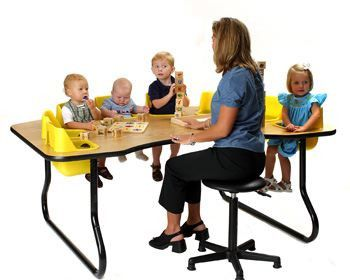 """TT-8 TODDLER TABLE 8 Seat Table, 27"""" Tall"""