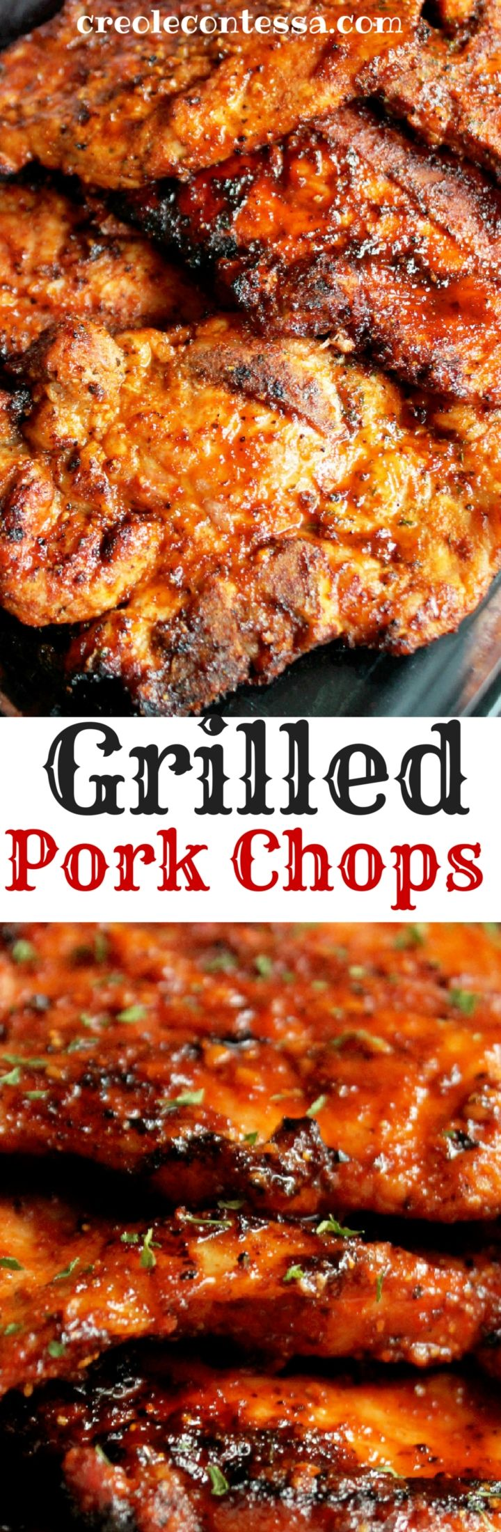 Grilled Pork Chops-Creole Contessa