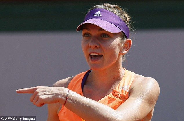 Rising star: Halep also made the quarter-final of this year's Australian Open...