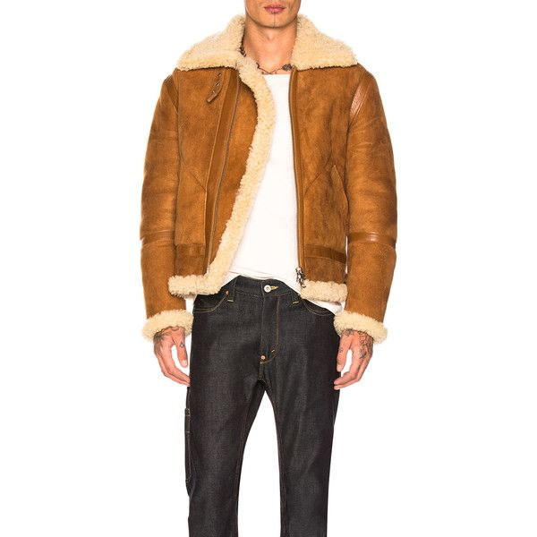 Acne Studios Ian Shearling Jacket (£2,031) ❤ liked on Polyvore featuring men's fashion, men's clothing, men's outerwear, men's jackets, coats & jackets, mens collared jacket and mens shearling jacket