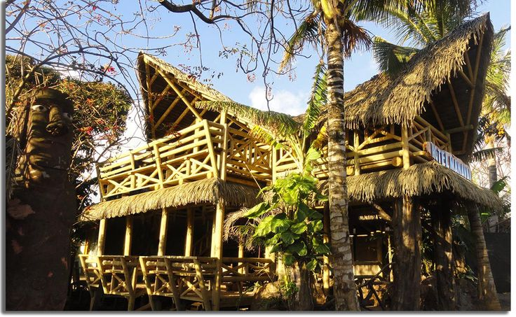 The primitive and wild charm of the Manavai Hotel's synthetic thatch roofing