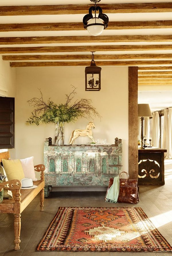 Love The Robustness Mix Of International Furnishings Great Strength And Style In This Spanish Villa