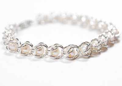 How to Make Chain Maille & Pearl Bracelet