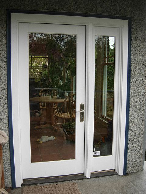 25 best ideas about single french door on pinterest for Patio doors with side windows