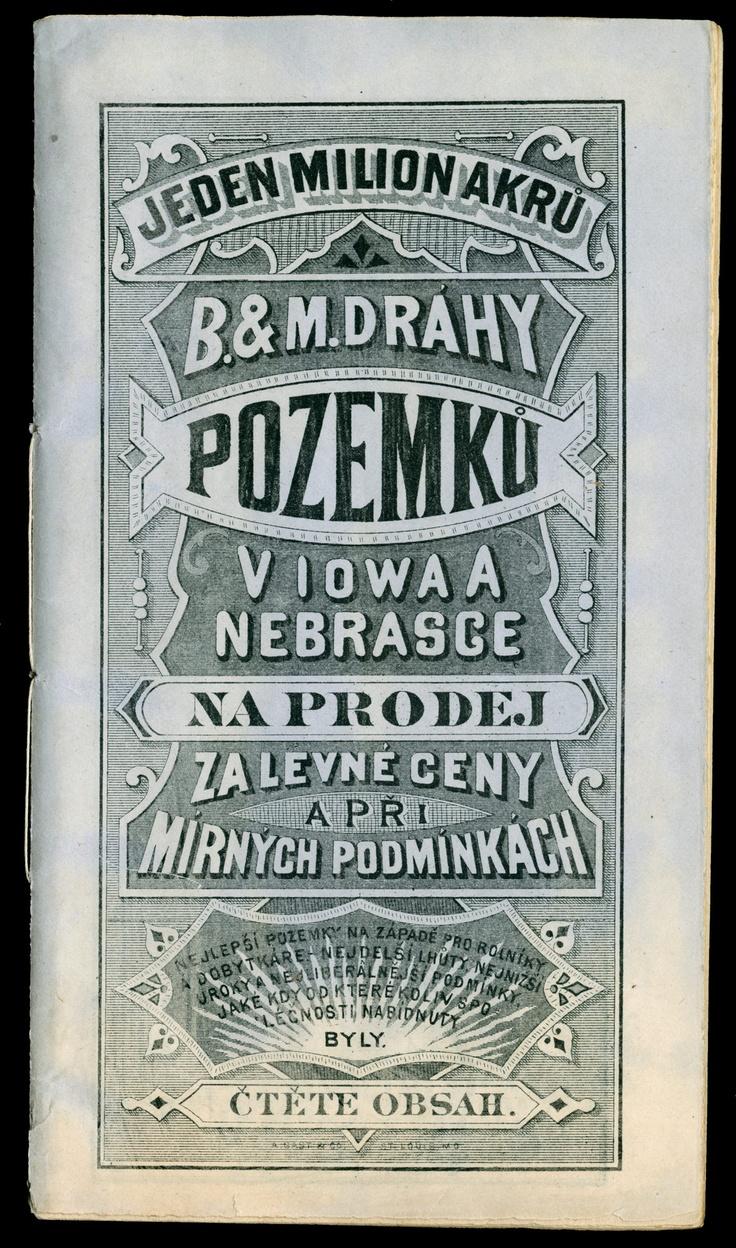 dobová reklama na prodej pozemků (obálka brožury, USA, 1879)