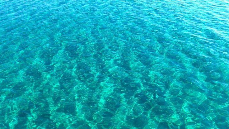 crystal clear sea water elafonisos island-greece