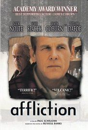 Watch Affliction Online Free. A deeply troubled small town cop investigates a suspicious hunting death while events occur that cause him to mentally disintergrate.