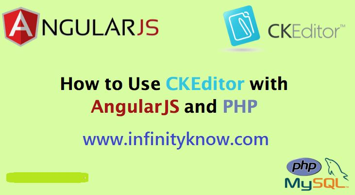 AngularJS CKEditor using PHP MYSQL – Angular 6 ckEditor Tutorials