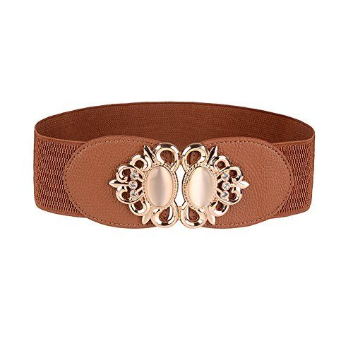 0f1eb857f5 Sookiay Women s Retro Style Elastic Dress Belt Gemstone Decorative Waist  Band.