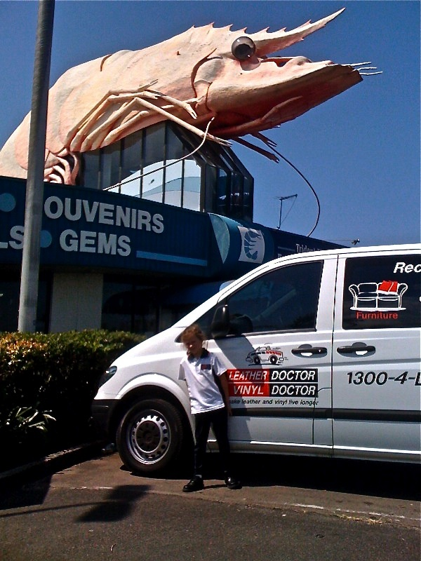 One of our vans at the Big Prawn in Ballina NSW Australia
