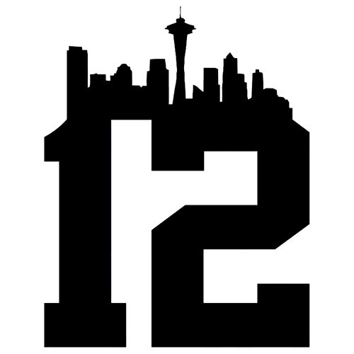 NFL Seattle Seahawks 12th Man Die Cut Vinyl Decal PV1021