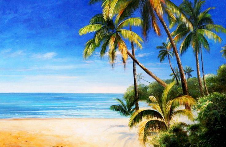 paisajes naturales | paisajes naturales con palmas cuadros ...