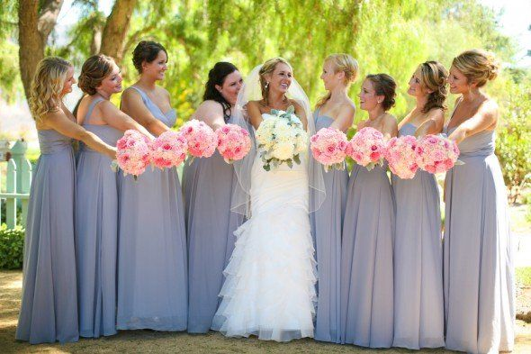 pretty set on mint but these Grey Bridesmaid Dresses are GORGEOUS