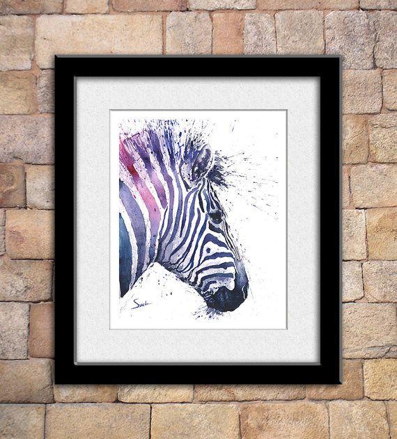 Het leven is gewoon beter met dieren rond! Licht omhoog uw kamer en de geest met deze fine-art print van mijn aquarel zebra schilderij. Dergelijke koele kijken dieren, je kan niet helpen, maar glimlach als je ze ziet! Ik hoop dat u geniet van dit zeer persoonlijke en zinvolle kunstwerk!  ________________________________________________________  GROOTTE: Kies het formaat dat het beste past bij uw budget ONDERTEKEND door de kunstenaar MEDIA: het origineel is geschilderd in aquarel verf FRAMING…