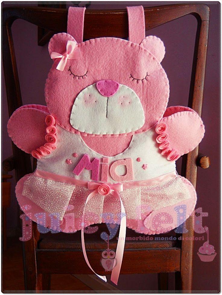 Juicy felt: Un portapigiama a forma di orsetta per Mia