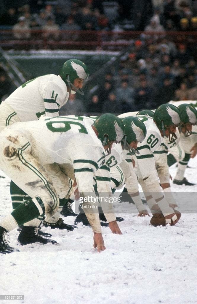 Eagles in the snow, ca. 1960.