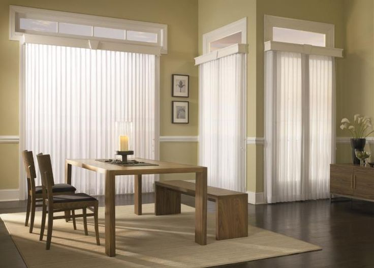 for a modern decorating option with vertical blinds pair them with custom wood cornices sliding glass doorglass - Vertical Blinds For Sliding Glass Doors