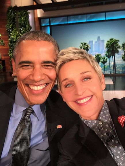 This was the first time a sitting president has made an in-studio appearance on the daytime talk show.